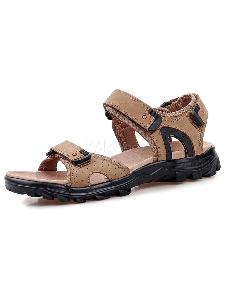 braune sandalen ausschnitt schicke rindsleder sandalen f r. Black Bedroom Furniture Sets. Home Design Ideas