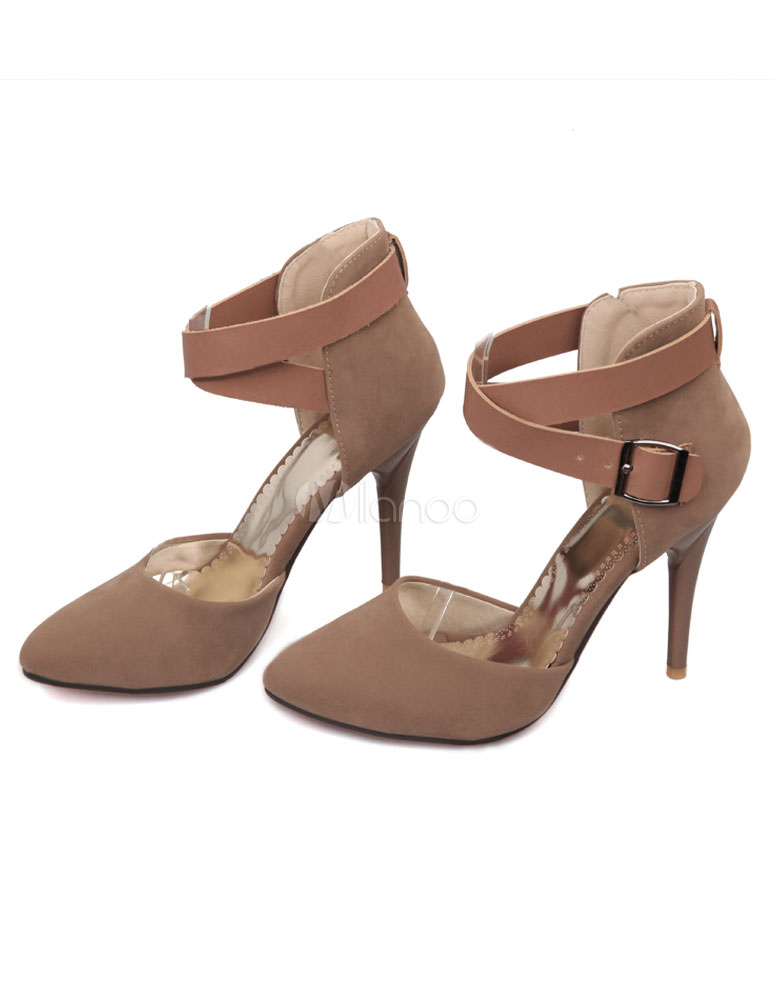 rote sandalen riemchen mikro wildleder heels f r frauen. Black Bedroom Furniture Sets. Home Design Ideas