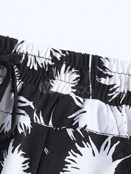 zweifarbige print hose d nn spandex schicke hosen f r frauen. Black Bedroom Furniture Sets. Home Design Ideas