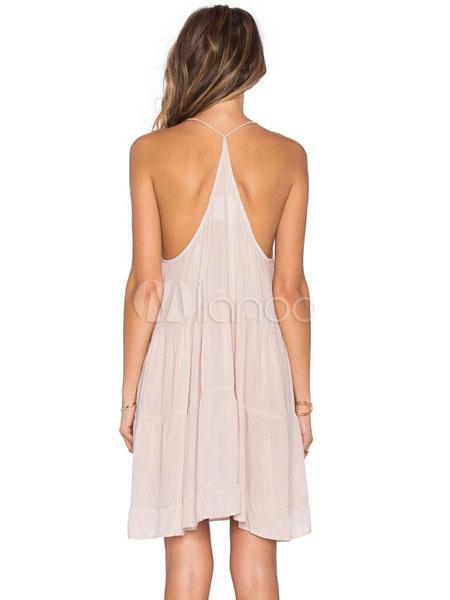 sel blanc robe bretelles robe d 39 t dos nu coton. Black Bedroom Furniture Sets. Home Design Ideas