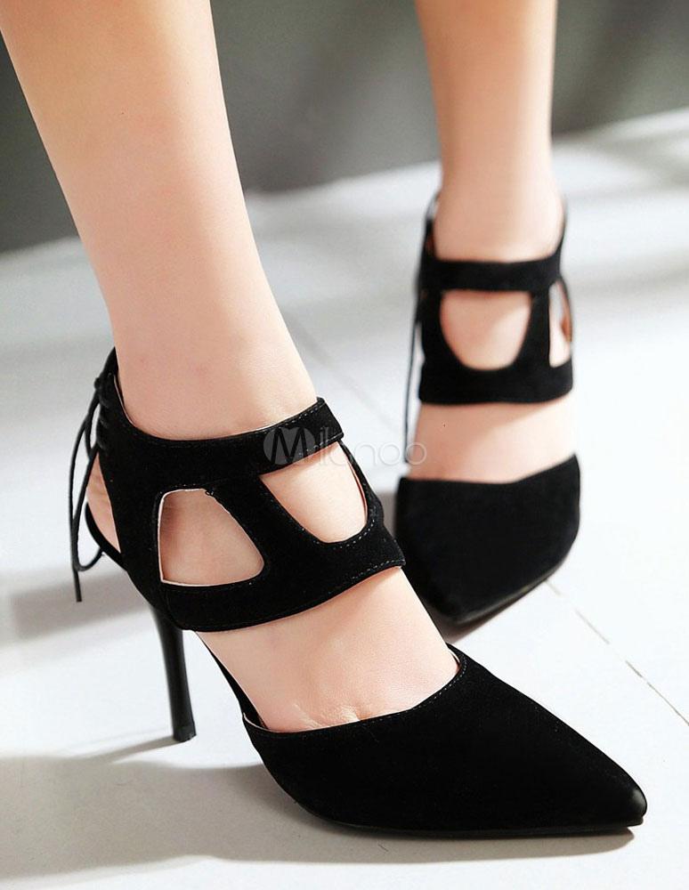 rote sandalen spitze oben ausgeschnitten wildleder heels. Black Bedroom Furniture Sets. Home Design Ideas