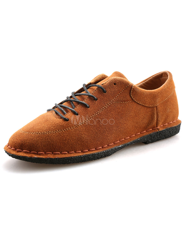 Earch jaune chaussures lacent des chaussures en daim pour - Laver chaussure en daim ...