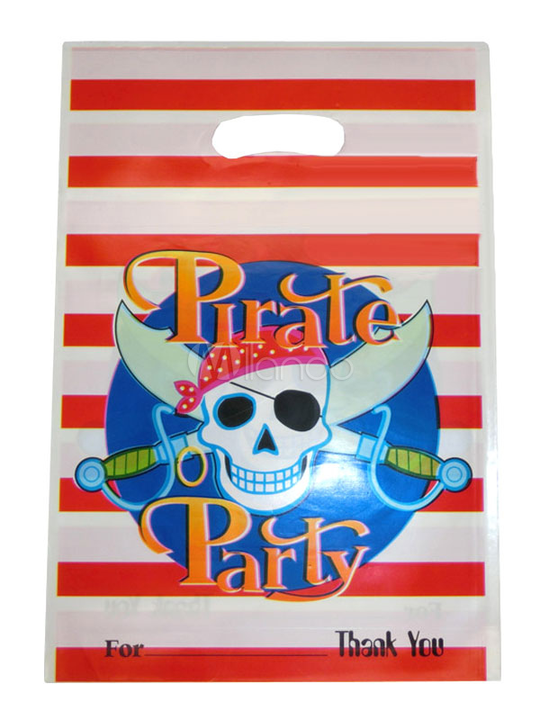 Halloween Pirate Skull Gift Bag Plastic Multicolor Party Bag