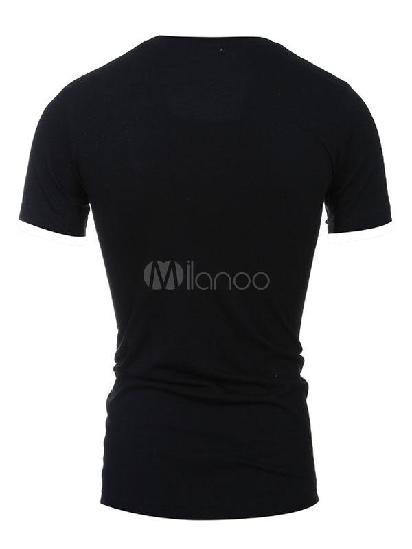 T shirt imprim noir slim fit coton t shirt pour hommes for Film noir t shirts