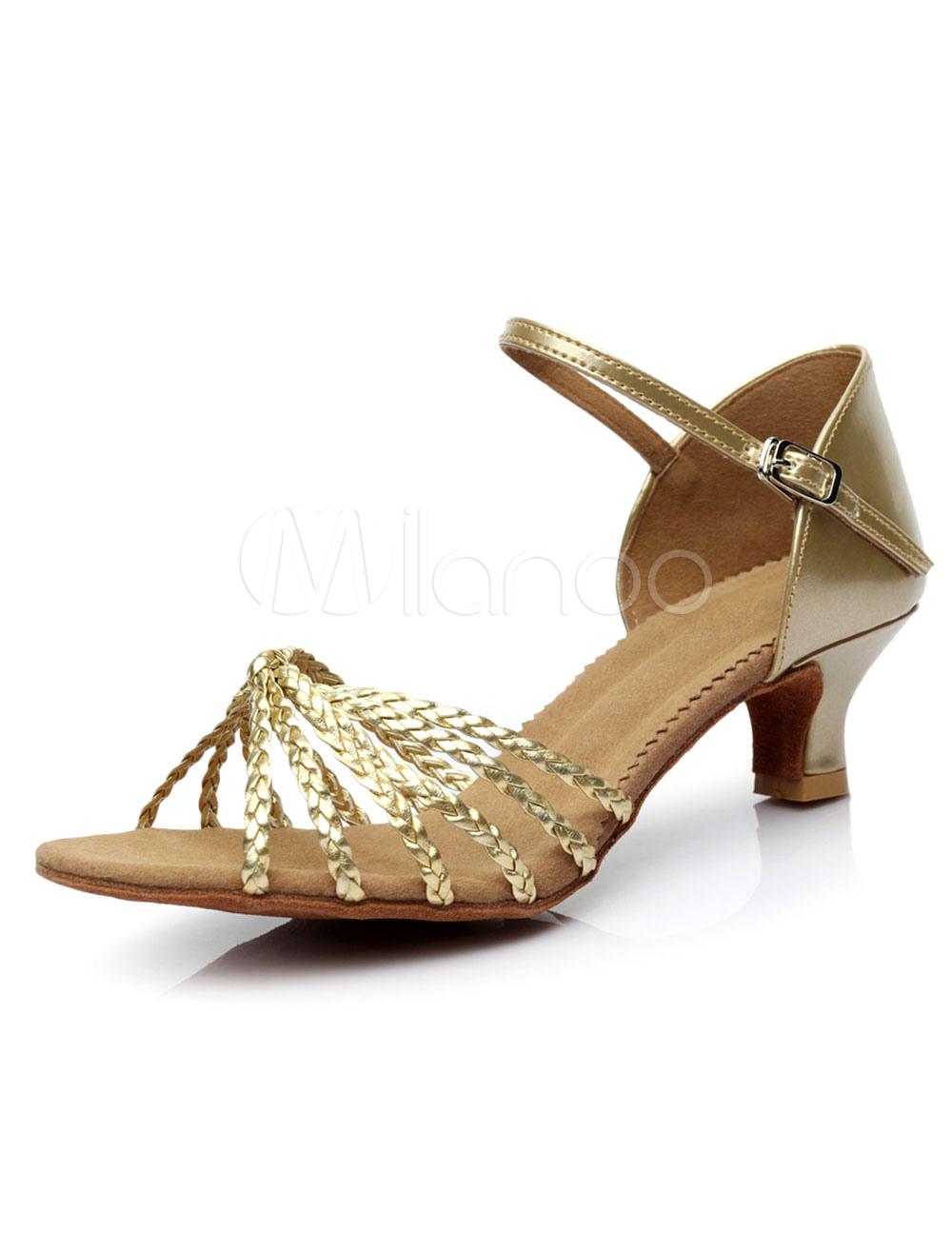lateinamerikanische t nze gold sandalen riemchen pu heels. Black Bedroom Furniture Sets. Home Design Ideas