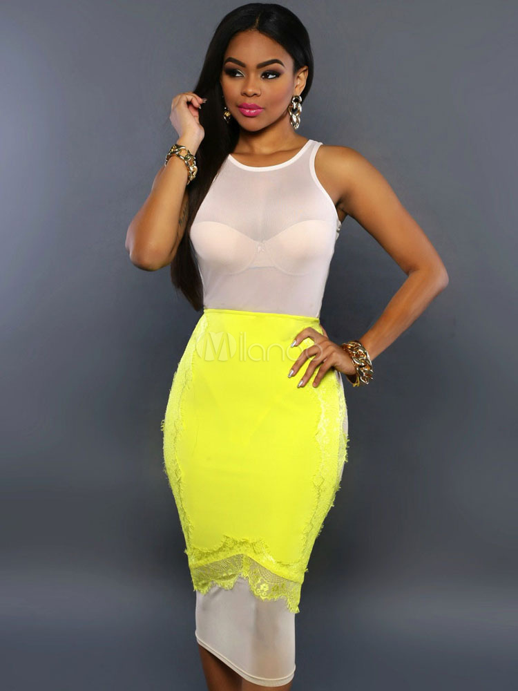 Multicolor Bodycon Dress Semi-Sheer Spandex Club Dress (Women\\'s Clothing Club Dresses) photo