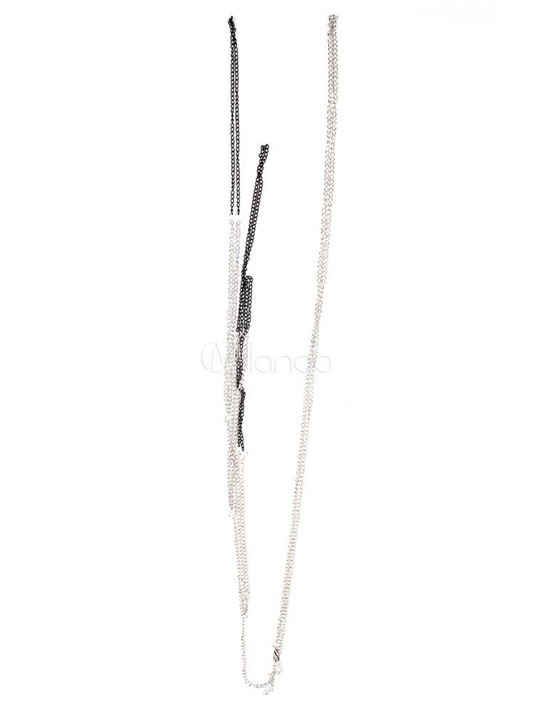 gliederkette silber schicke bikini k rper kette metall. Black Bedroom Furniture Sets. Home Design Ideas
