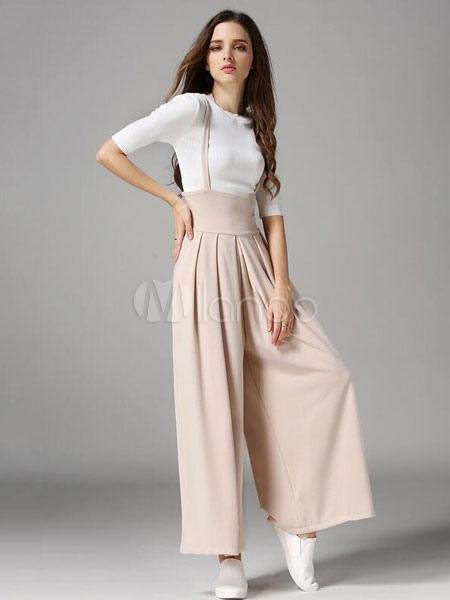 Porte jarretelles abricot pantalons jambes larges jumpsuit - Photos de femmes en porte jarretelles ...