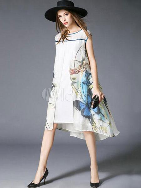 blanc shift robe chic print coton robe lin. Black Bedroom Furniture Sets. Home Design Ideas