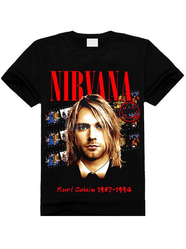 T shirt noir caract re impression coton chic t shirt pour for Film noir t shirts