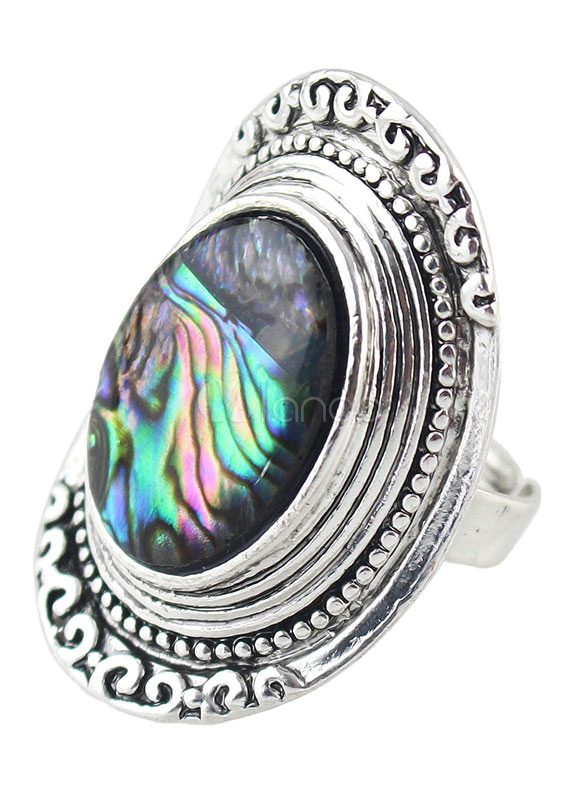 Multicolor Statement Ring Rhinestone Embossed Ring for Women thumbnail