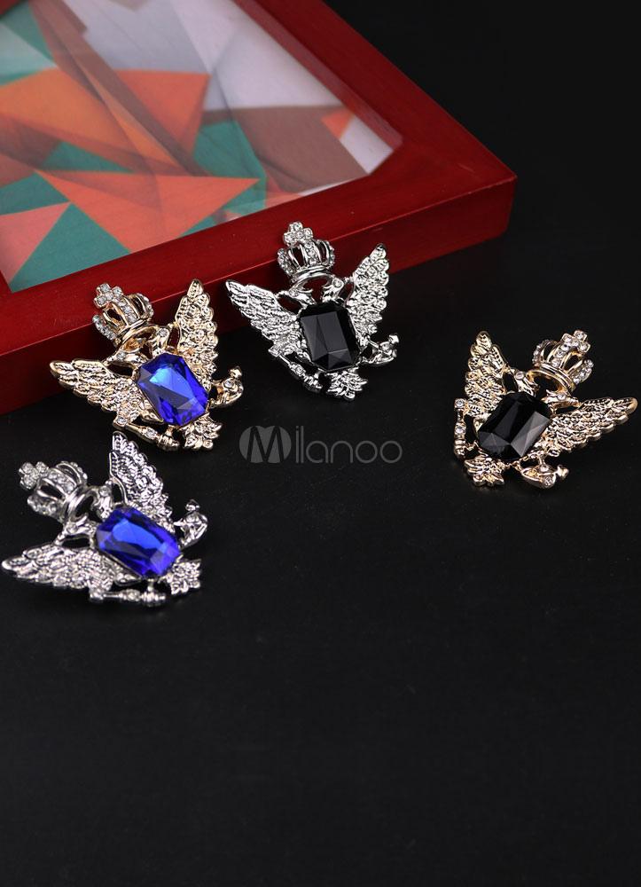 Multicolor Brooch Metal Rhinestone Brooch For Women