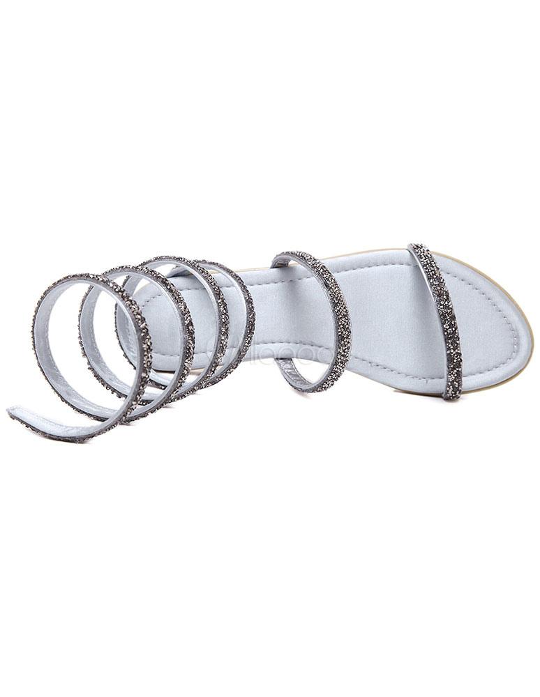 multicolor gladiator wohnungen ausgeschnitten glitter sandalen f r damen. Black Bedroom Furniture Sets. Home Design Ideas