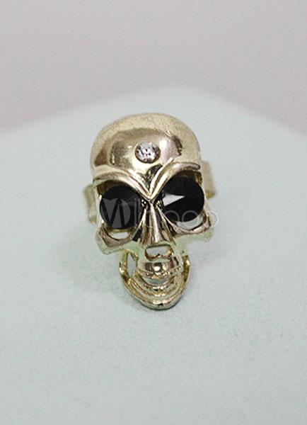 Women's Gold Skull Rings thumbnail