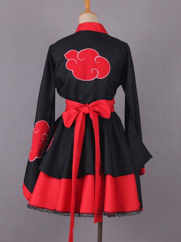 Naruto Akatsuki Lolita Dress Cosplay Costume Milanoo Com