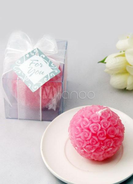 Pinke Candle Favor Rose Ball Charming Wedding Favor