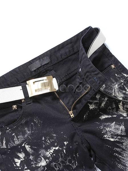 schwarze punk jeans skinny jeans f r m nner. Black Bedroom Furniture Sets. Home Design Ideas