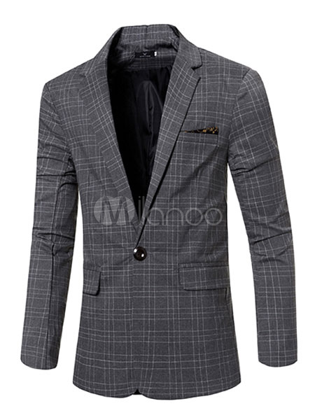 plaid blazer casual costume veste homme en noir blanc gris bleu. Black Bedroom Furniture Sets. Home Design Ideas