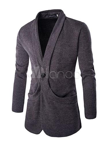 veste blouson noir gris blazer long pardessus hommes. Black Bedroom Furniture Sets. Home Design Ideas