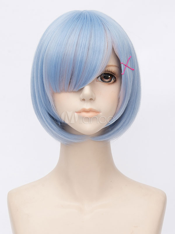 Re: Zero Starting Life In Another World Young Rem Blue Shades Cosplay Wig Halloween