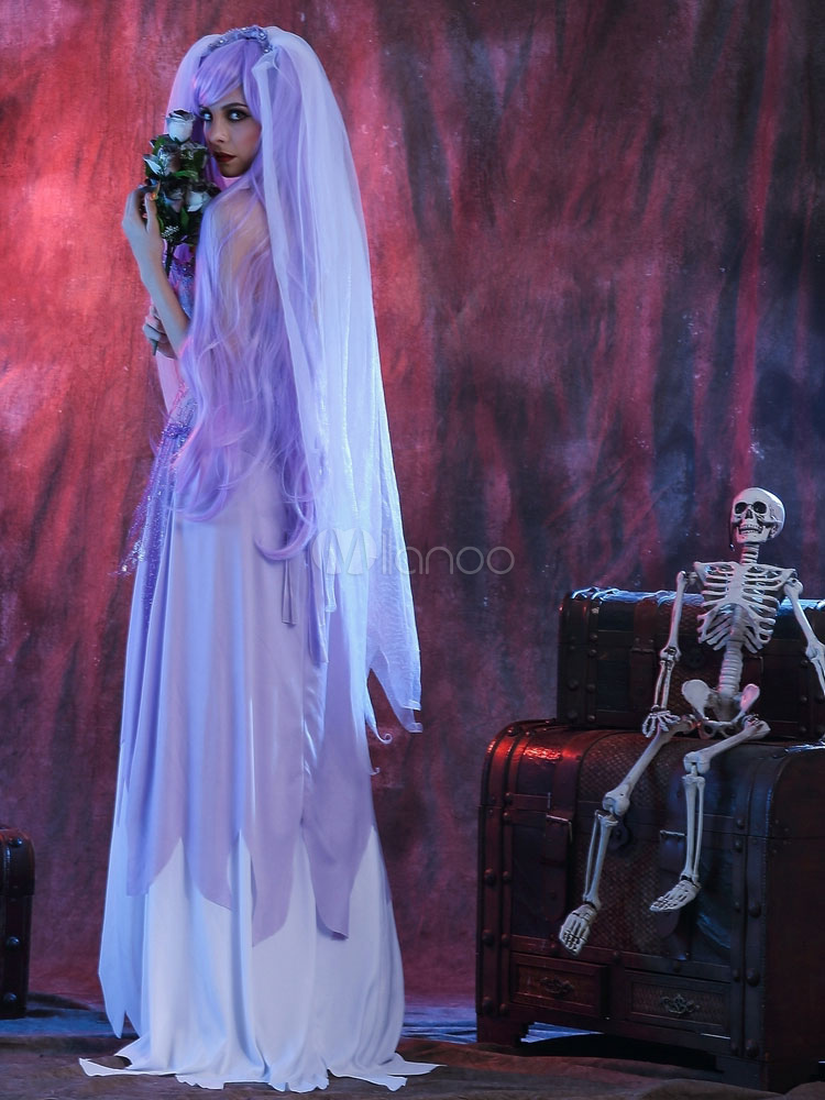 Halloween costume corpse bride women 39 s dress with headgear for Corpse bride wedding dress for sale