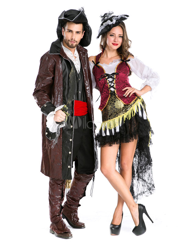 couples costumes 2017 pirate costume deep brown couples