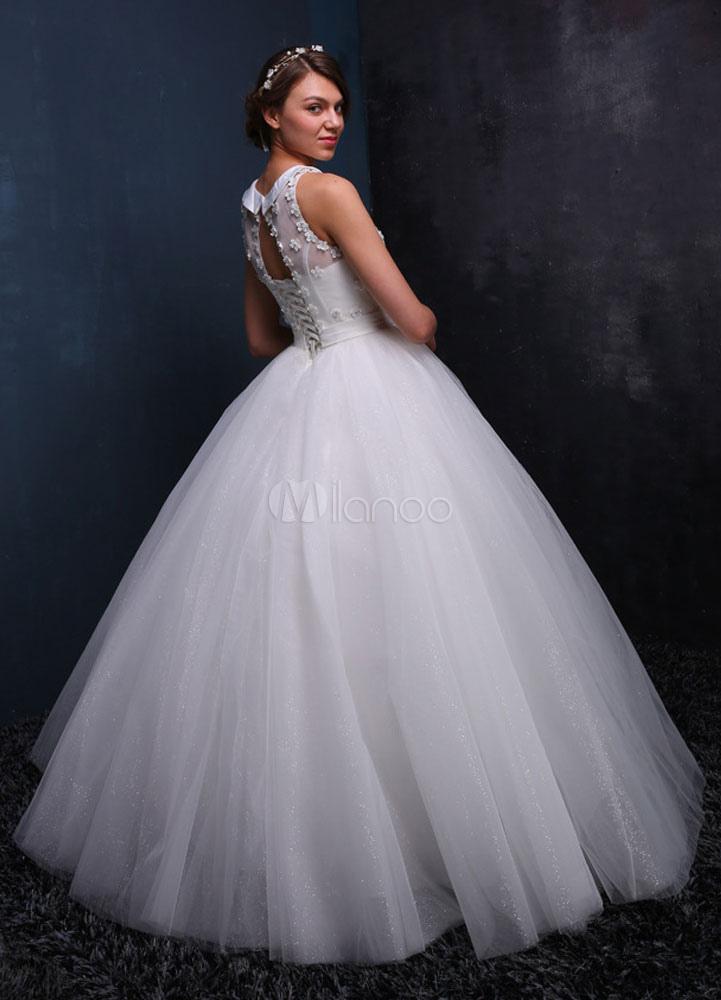 tulle robe de mari e sans manches perles robe de mari e