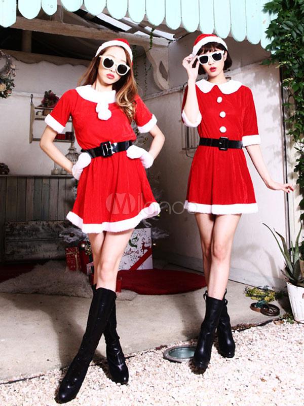 rot weihnachten kost m damen kurzarm mit g rtel minikleid. Black Bedroom Furniture Sets. Home Design Ideas