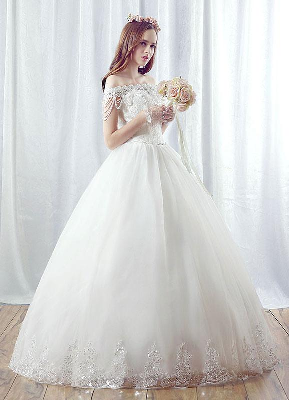 robe de mari e princesse blanche en dentelle maxi l paule