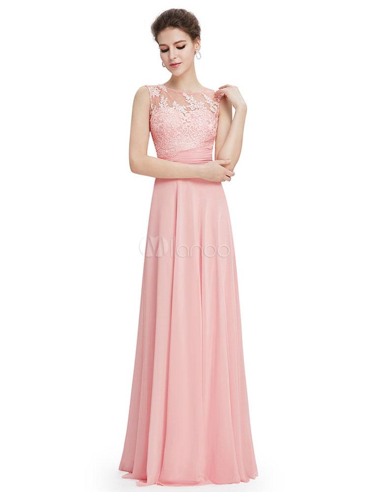 err ten prom kleid weichen rosa r ckenfreies kleid chiffon. Black Bedroom Furniture Sets. Home Design Ideas