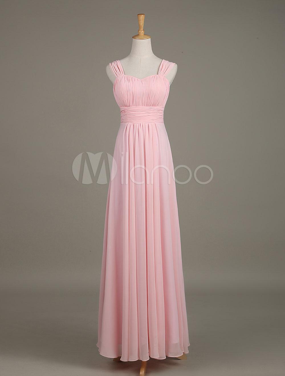 Blush Bridesmaid Dress Soft Pink Strapless Sweetheart Straps Draped A Line Maxi Wedding Party Dress photo