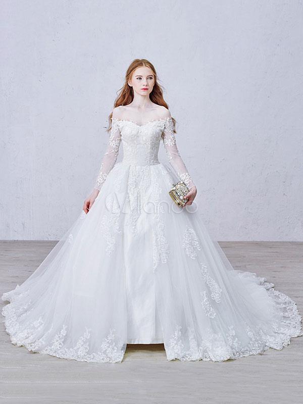 robe de mari e dentelle mariage robe princesse blanche On hors des robes de mariage dallas
