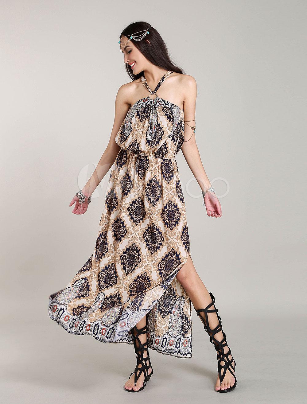 robe longue boheme robes d 39 t imprim es. Black Bedroom Furniture Sets. Home Design Ideas