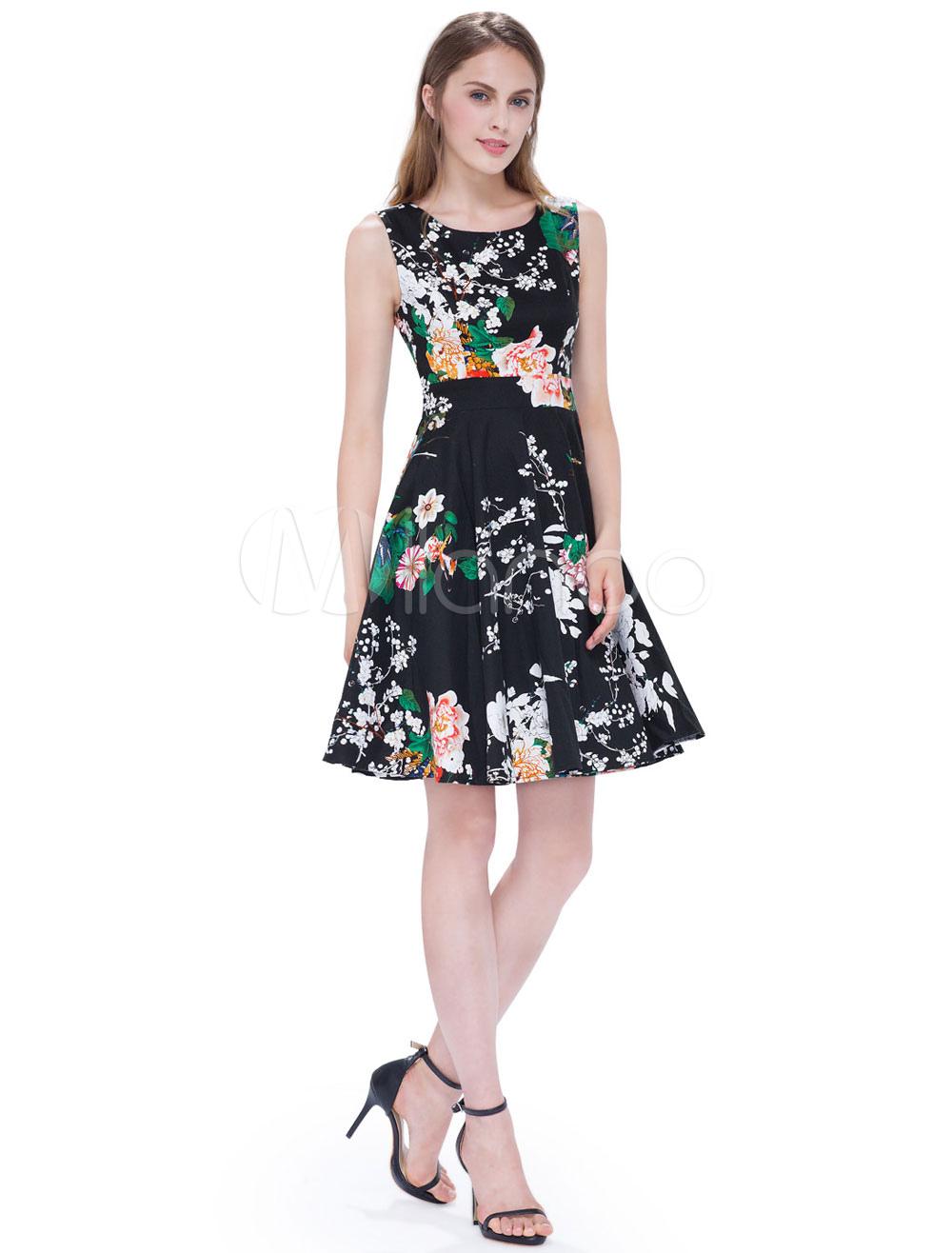 Short Homecoming Dresses Floral Print Prom Dress A Line Elastic Silk Mini Party Dress (Wedding) photo