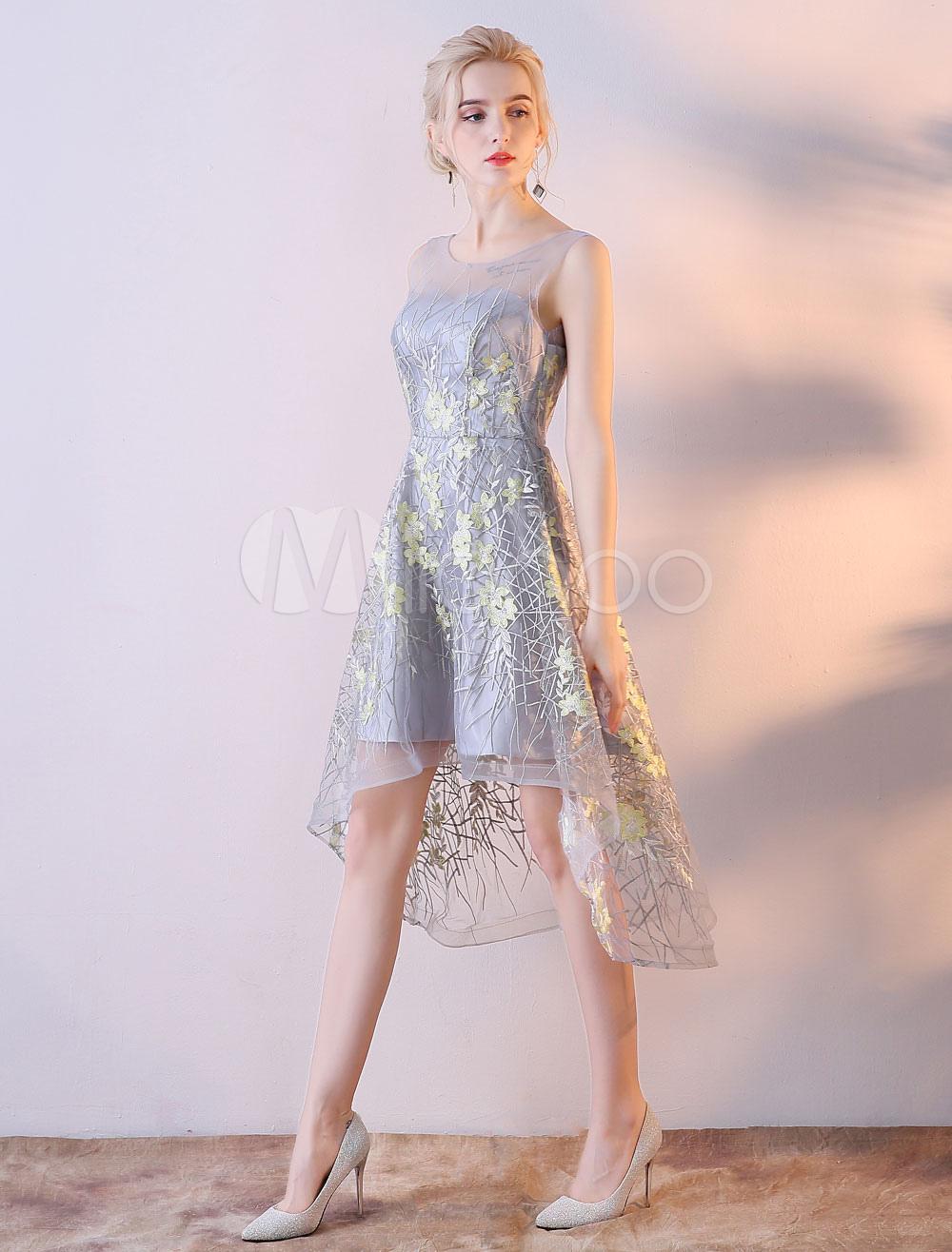 Lace Cocktail Dress Lace High Low Backless Short Graduation Party Dress (Wedding Cheap Party Dress) photo