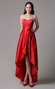 85d4f64989aa Vestito rosso corto davanti lungo dietro – Modelli alla moda di ...