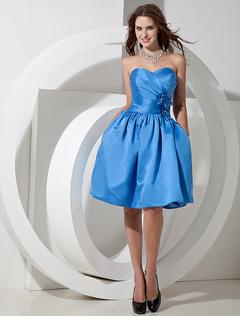 robe demoiselle dhonneur bustier en satin bleu pliss - Milanoo Robe De Soiree Pour Mariage