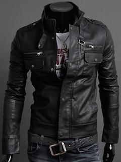 chaquetas de cuero hombre marron