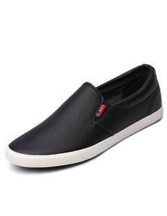 Black Polyester Causal Loafer Shoes for Men