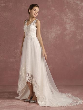 High Low Wedding dress Milanoocom