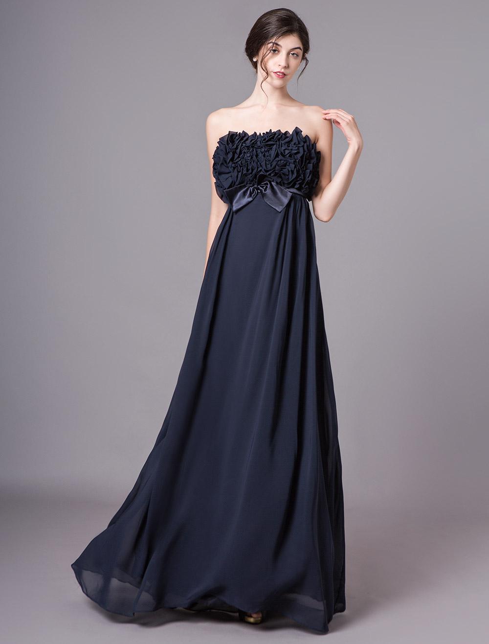 toller Rabatt für verschiedene Arten von retro Abendkleid mit Schleife - Empire-Stil - flanevo