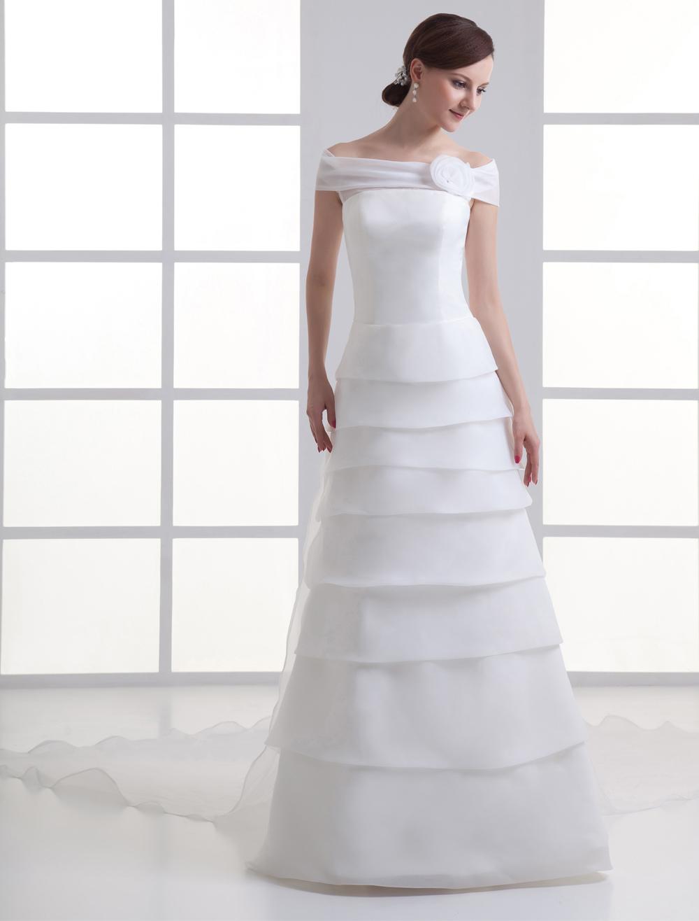 Brautkleid aus Organza - A-Linie - flanevo