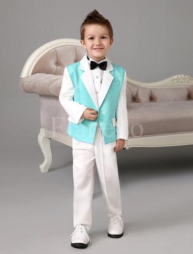 jungen anzug mit hemd und fliege jungenbekleidung flanevo. Black Bedroom Furniture Sets. Home Design Ideas