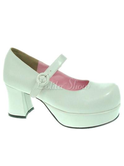 Lolitashow Sweet Lolita Chunky Heels Shoes Platform Round Toe ...