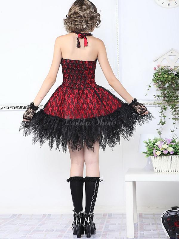 Vestido gotico corto rojo