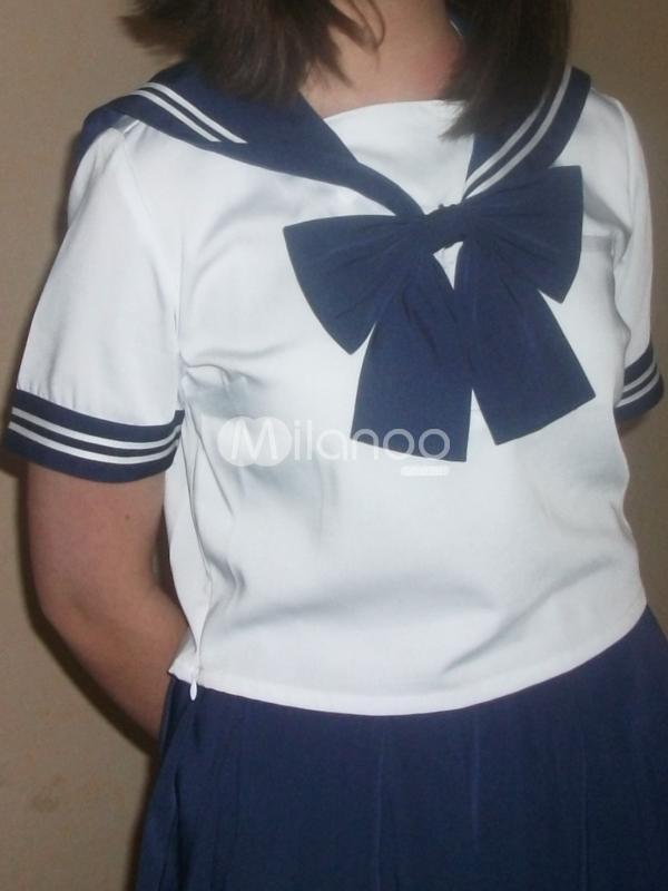 Costume marin de cosplay bleu royal de School Uniform