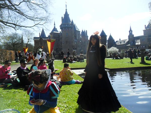 karneval schwarzes lolita kleid aus baumwolle mit langen. Black Bedroom Furniture Sets. Home Design Ideas