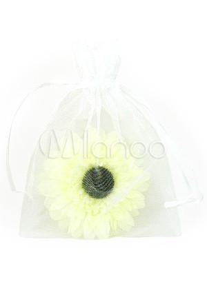 Белые прозрачные ткани Свадебный пакет для конфет.