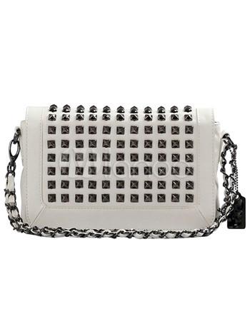 Плечо моды Белый ПУ Сеть женщин сумка.