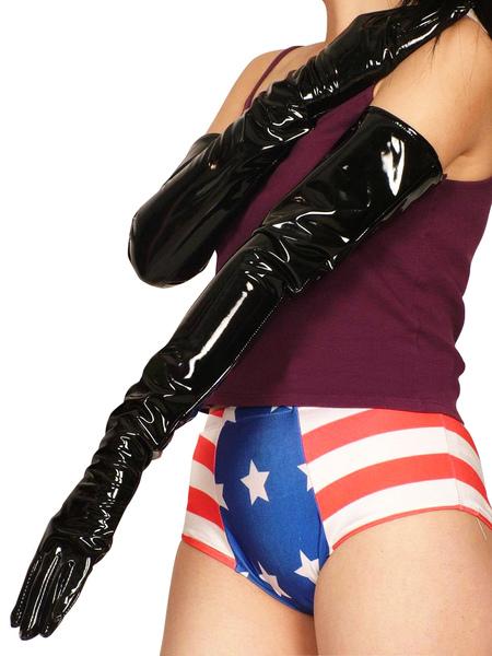 Milanoo coupon: PVC Black Shoulder Length Gloves For Halloween